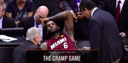 Lebron Cramp Game